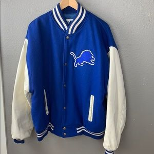 NFL Detroit Lions Wool & Leather Varsity Jacket